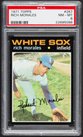 Baseball Cards:Singles (1970-Now), 1971 Topps Rich Morales #267 PSA NM-MT 8....