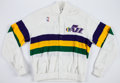 Basketball Collectibles:Uniforms, 1987-88 Melvin Turpin Game Worn Utah Jazz Warm Up Jacket andPants....