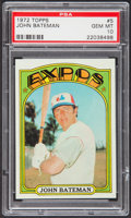 Baseball Cards:Singles (1970-Now), 1972 Topps John Bateman #5 PSA Gem Mint 10....