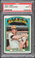 Baseball Cards:Singles (1970-Now), 1972 Topps Enzo Hernandez #7 PSA Mint 9....