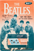 Music Memorabilia:Memorabilia, Beatles Harmonica in Box with an Original Display Card (US,1964)....