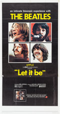 Music Memorabilia:Posters, Two Let It Be Movie Posters, 1970s....