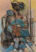 Fine Art - Work on Paper:Drawing, Giuseppe Santomaso (Italian, 1907-1990). Untitled, 1948.Pastel on paper. 19-3/4 x 13-3/4 inches (50.2 x 34.9 cm) (sheet...