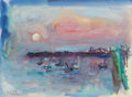 Works on Paper, Abraham Rattner (American, 1895-1978). The Harbor, 1948. Watercolor and gouache on board. 11-1/4 x 15-1/4 inches (28.6 x...