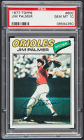 Baseball Cards:Singles (1970-Now), 1977 Topps Jim Palmer #600 PSA Gem Mint 10 - Pop Four. ...