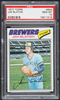 Baseball Cards:Singles (1970-Now), 1977 Topps Jim Slaton #604 PSA Gem Mint 10....