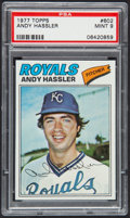 Baseball Cards:Singles (1970-Now), 1977 Topps Andy Hassler #602 PSA Mint 9....