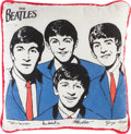 Music Memorabilia:Memorabilia, Beatles Vintage Pillow (US, 1964). ...