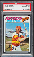 Baseball Cards:Singles (1970-Now), 1977 Topps Greg Gross #614 PSA Gem Mint 10....