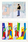 Music Memorabilia:Original Art, Beatles Yellow Submarine Animation Cel Group of 2 (UnitedArtists/King Features, 1968)....