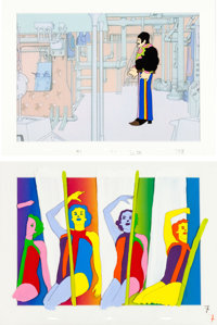 Beatles Yellow Submarine Animation Cel Group of 2 (United Artists/King Features, 1968).<