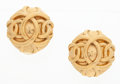 "Luxury Accessories:Accessories, Chanel Gold Double CC Earrings . Very Good to ExcellentCondition . 1"" Width x 1"" Height . ..."