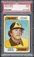 Baseball Cards:Singles (1970-Now), 1974 Topps Steve Arlin #406 PSA Mint 9....
