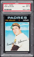 Baseball Cards:Singles (1970-Now), 1971 Topps Ron Slocum #274 PSA NM-MT 8....