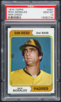Baseball Cards:Singles (1970-Now), 1974 Topps Rich Morales #387 PSA Gem Mint 10 - Pop Three....