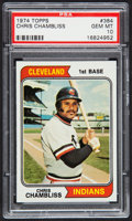Baseball Cards:Singles (1970-Now), 1974 Topps Chris Chambliss #384 PSA Gem Mint 10....