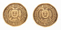 "Luxury Accessories:Accessories, Chanel Gold CC Crest Medallion Earrings. Very GoodCondition. 1"" Width x 1"" Length. ..."