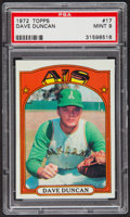 Baseball Cards:Singles (1970-Now), 1972 Topps Dave Duncan #17 PSA Mint 9....