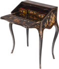 Furniture : French, A French Chinoiserie Bureau de Dame, 19th century. 35 inches high x26 inches wide x 15-1/2 inches deep (88.9 x 66.0 x 39.4 ...