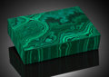 Lapidary Art:Boxes, Malachite Box.. Katanga Copper Crescent, Katanga, DR Congo. ...
