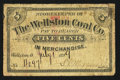 Obsoletes By State:Ohio, Wellston, OH- The Wellston Coal Co. 5¢ July 1, 1899. ...