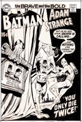 Original Comic Art:Miscellaneous, Neal Adams Brave and the Bold #90 Batman and Adam StrangeCover Production Art Group of 4 (DC, 1970)....