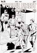 Original Comic Art:Covers, Win Mortimer World's Finest Comics #35 Cover RecreationOriginal Art (undated)....