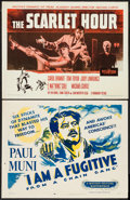 "Movie Posters:Film Noir, I Am a Fugitive from a Chain Gang & Other Lot (Dominant Pictures, R-1956). Half Sheets (2) (22"" X 28""). Film Noir.. ... (Total: 2 Items)"