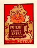 Books:Prints & Leaves, [Advertising/Promotional]. French Advertising Poster for PoteufBouillon. [N.p., n.d., circa 1900]. ...