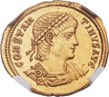 Ancients:Roman Imperial, Ancients: Constantine II (AD 337-340). AV solidus (23mm, 4.48 gm,5h)....