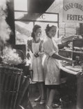 Photographs:Gelatin Silver, Willy Ronis (French, 1910-2009). Marchandes de Frites, RueRambuteau, 1946. Gelatin silver, 1995. 13-3/8 x 10-1/4inches...