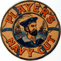 Books:Prints & Leaves, [Advertising/Promotional]. Color Printed Cardboard Logo forPlayer's Navy Cut Cigarettes. [N.p., n.d., circa 1927]. ...