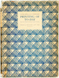 Books:Books about Books, Oliver Simon & Julius Rodenberg. Printing of To-Day. New York: Harper & Brothers, 1928....