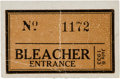 Baseball Collectibles:Tickets, 1933 All-Star Game Ticket Stub. ...