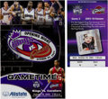 Basketball Collectibles:Others, 2003-04 LeBron James First NBA Game & Point Ticket & Program. ...