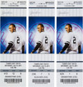 Baseball Collectibles:Tickets, 2011 Derek Jeter 3,000th Hit Full Ticket Lot of 3. ...