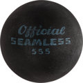 "Movie/TV Memorabilia:Props, A Small Black Rubber Handball from from ""Rocky"" and ""Rocky II.""..."