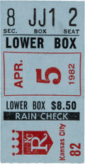 Baseball Collectibles:Tickets, 1982 Cal Ripken Jr. First Home Run Ticket Stub. ...