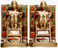 Books:Furniture & Accessories, [Bookends]. Pair of Matching Bookends Depicting Reading Scholars.[Marion Bronze, n.d., circa 1926]. ... (Total: 2 Items)