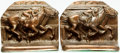Books:Furniture & Accessories, [Bookends]. Pair of Matching Bookends with a Horse Racing Motif.Unsigned, undated. ... (Total: 2 Items)