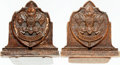 Books:Furniture & Accessories, [Bookends]. Pair of Matching Bookends Depicting the Boy Scout Seal.Unsigned, undated. ... (Total: 2 Items)