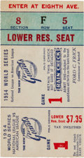 "Baseball Collectibles:Tickets, 1954 World Series Game One Ticket Stub, Willie Mays Makes ""TheCatch."" ..."
