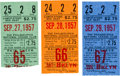 Baseball Collectibles:Tickets, 1957 Brooklyn Dodgers Ticket Stubs Lot of 3 with Last Win &Last Game. ...
