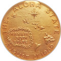 "Coins of Hawaii, 1959 Hawaii Statehood Medal, Gold, NII HAU, MS68 NGC. ""M.2MS-3a""...."