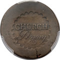 Colonials, (1790) PENNY Albany Church Penny, No D VF30 PCGS. Breen-1169, W-8495, R.7....