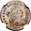 Early Half Dimes, 1801 H10C V-1, LM-2 -- Improperly Cleaned -- NGC Details. XF....