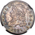 Bust Dimes, 1821 10C Large Date, JR-7, R.2, MS64 NGC....