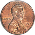 Lincoln Cents, 1992-D 1C Close AM, FS-901, MS62 Red and Brown PCGS....