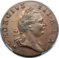 Colonials, 1773 1/2P Virginia Halfpenny, No Period, N. 5-Z, W-1600, R.4, MS65 Brown PCGS....