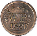 Coins of Hawaii, 1880 TOKEN Wailuku Plantation Token, 1 Real, AU50 PCGS. M.2TE-6....